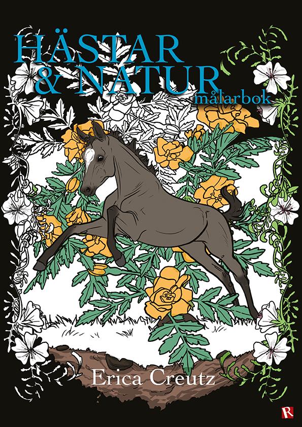 Omslag Hästar & Natur målarbok